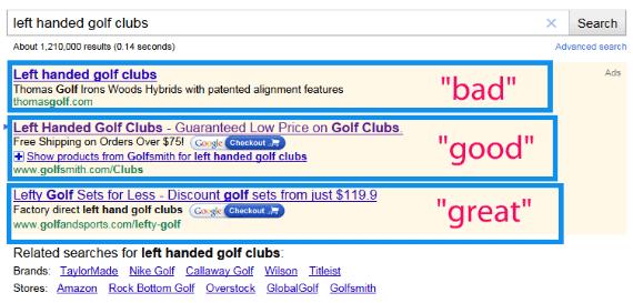 golf-ecomerce-ppc-example